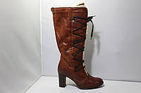 Женские кожаные сапоги Andre, фото 1