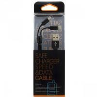 USB шнур Zipper Lightning and Micro USB original charger черный Код:13665
