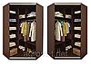 Угловой шкаф-купе тонированные зеркала + пескоструй + цветные стекла, фото 2