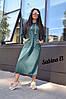 Платье свободного кроя с капюшоном ниже колена, фото 5
