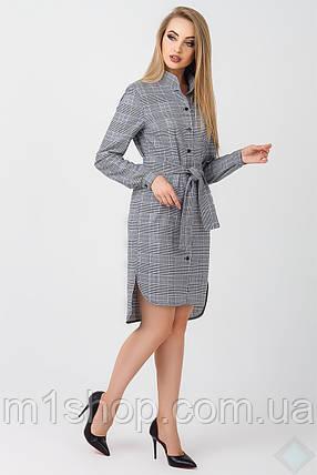 Женское платье-рубашка в клетку (Бонжур leo), фото 2