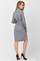 Женское платье-рубашка в клетку (Бонжур leo), фото 3