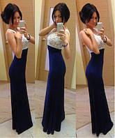 Гипюровое платье в пол