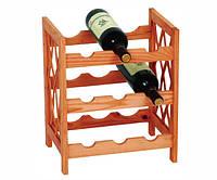 Деревяная барная полка для бутылок