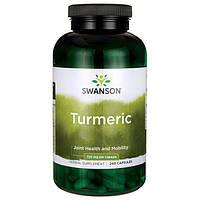 Turmeric, Swanson, 720 mg 240 Capsules \ Турмэрик, экстракт корня куркумы в капсулах