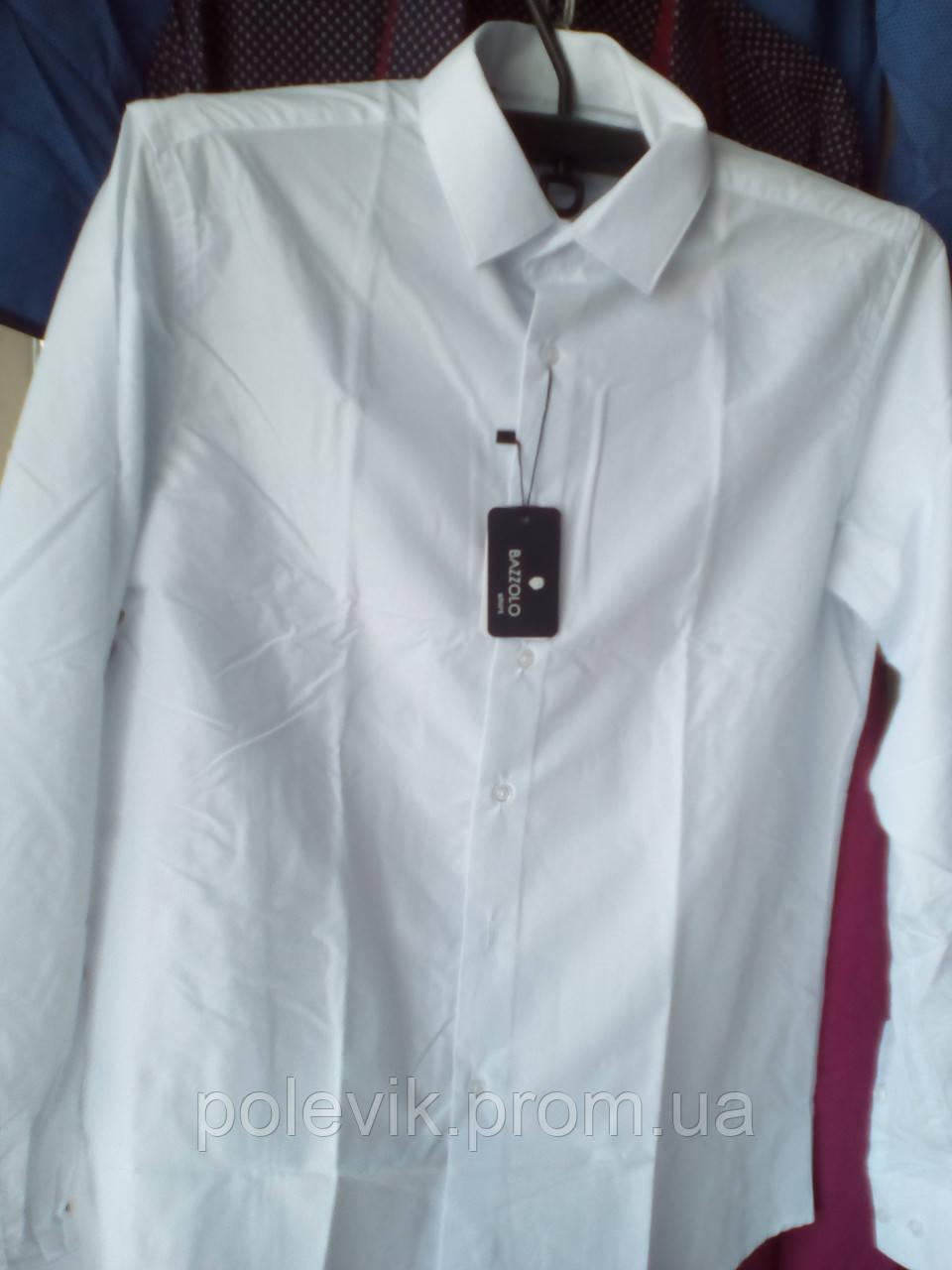5bd74eea495 Белая Хлопковая Рубашка с Длинным Рукавом BAZZOLO — в Категории ...