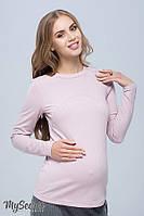 Стильный лонгслив для беременных и кормящих STEFANIA NEW, пудра*, фото 1