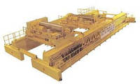 Кран мостовой специальный c двумя тележками г/п 60/10+20 т.