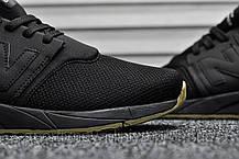 Кроссовки мужские черные 247 Triple Black (реплика), фото 3