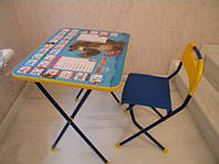Комплект детской складной мебели кп «познайка» из серии «маша и медведь» - изучай английский с детства!
