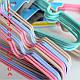 Вешалки тремпеля детские для одежды в шкаф металические, плечики силиконовые бежевые, 30 см, 10 шт, фото 2