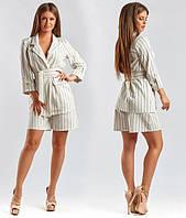 Стильный женский костюм в полоску (К23813)