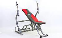 Скамья атлетическая+ стойка для штанги BH1159