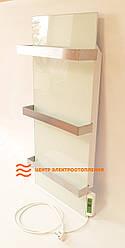 Стекло–керамический полотенцесушитель Dimol Standart 07 TR с терморегулятором (белый)