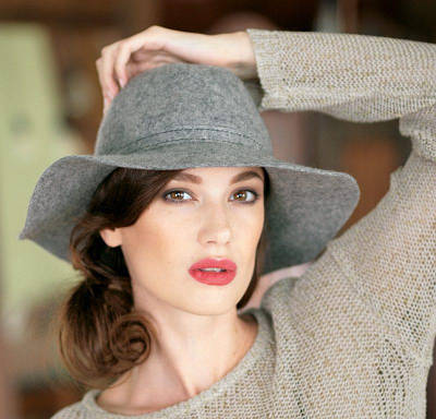300-1 Женская фетровая шляпа Хелен Лайн
