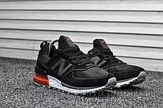 Кроссовки мужские черные New Balance 574 Sport Edition Black / Red (реплика), фото 3