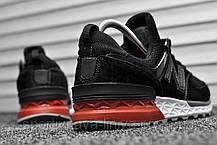 Кроссовки мужские черные New Balance 574 Sport Edition Black / Red (реплика), фото 2