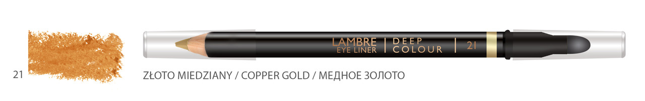 Карандаш для глаз LAMBRE Deep Colour Eye Liner №21 Copper Gold/Медное золото