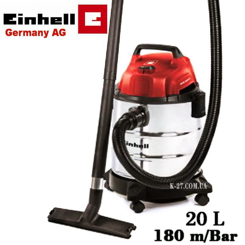 Пылесос для сухой и влажной уборки Einhell TC-VC 1820 S (промышленный)