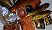 Скумбрия , сайра , горбуша , вомер рыба копченая