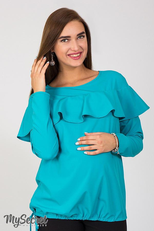 1b29f40452891b8 Блуза для беременных и кормящих мам вискоза морская волна - АНГЕЛОЧКИ в  Харькове
