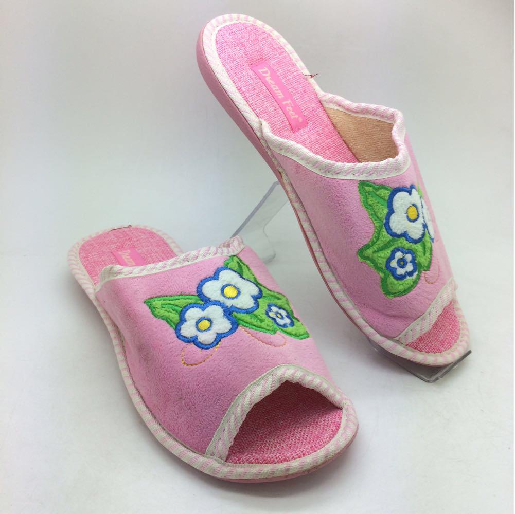 46bb017d974da Тапочки для гостей. Распродажа: Розовые женские Тапочки с открытым носком -  KIEV SHOES -
