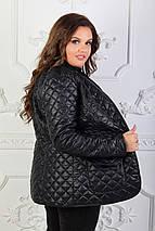 """Стеганая женская куртка-пиджак """"CHEER"""" с карманами (большие размеры, фото 3"""
