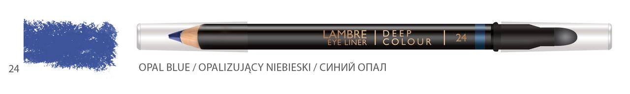 Карандаш для глаз LAMBRE Deep Colour Eye Liner №24 Opal blue/Синий опал