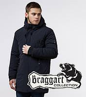 Braggart Black Diamond 9028 | Мужская зимняя куртка темно-синяя р. 46
