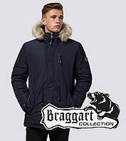 Braggart Black Diamond 31720 | Парка мужская с опушкой синяя р. 46 48 52 54