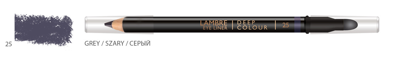 Карандаш для глаз LAMBRE Deep Colour Eye Liner №25 Grey/Серый