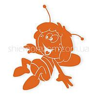 Термонаклейка Пчелка Майя оранжевая