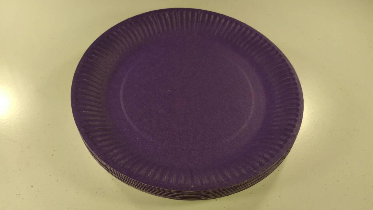 Тарілка паперова 23см Фіолетова 20шт (1 пач.)