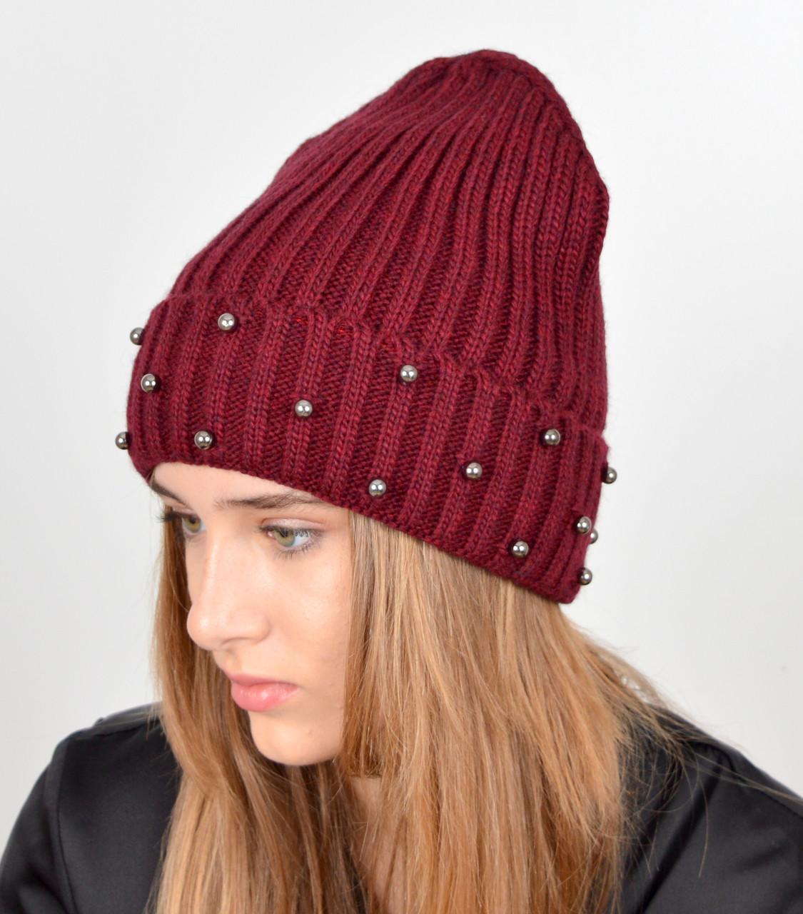 шапка с жемчугом
