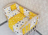 Комплект пастельного в детскую кроватку!