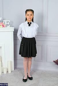 Юбка школьная для девочки с карманами Размер: 32, 34, 36, 38, 40 мод 152 цвет черный, синий ткань: хлопок,пол