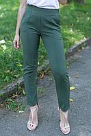 Облегающие брюки скинни Montana цвета хаки с высокой посадкой на резинке