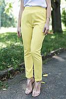 Жёлтые облегающие брюки скинни Montana с высокой посадкой, отворотами и стрелками