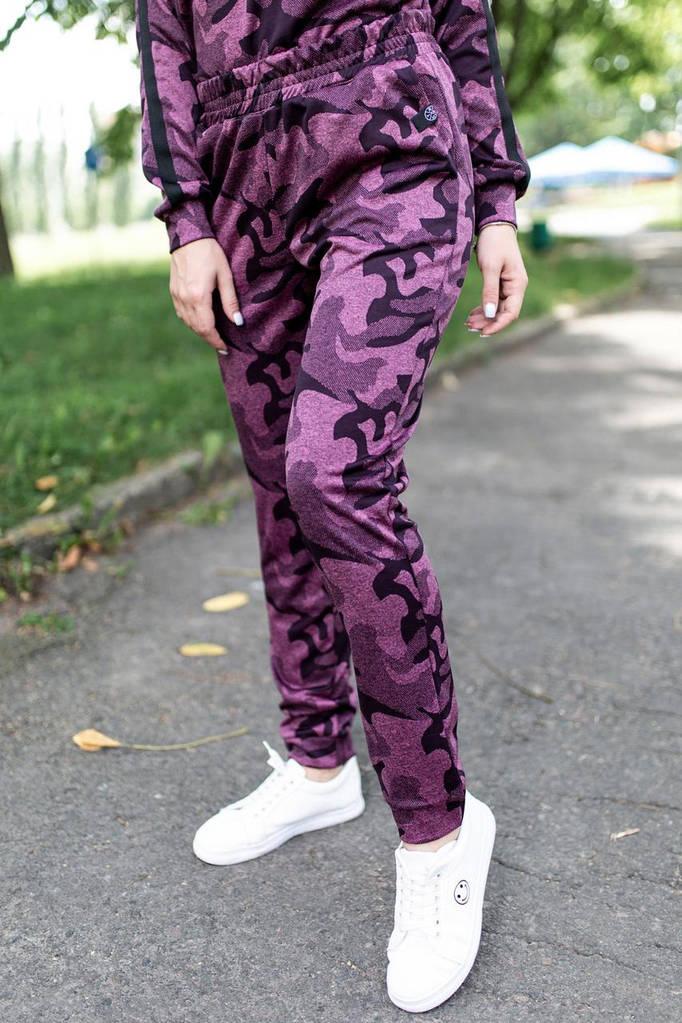 Бордовые брюки Kateri из хлопка в стиле милитари