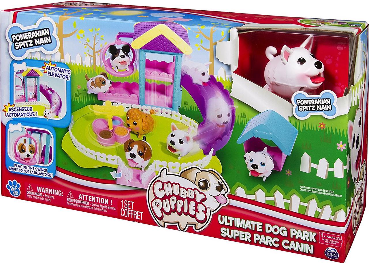Набор бегающая собачка и парк развлечений Chubby Puppies Dog Park
