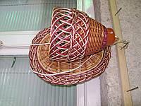 Бра плетеное из лозы