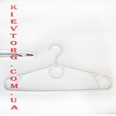 Усиленные! Белые вешалки пластиковые (зима) 42 см