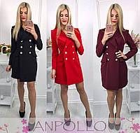 Модное платье-жакет, в расцветках., фото 1