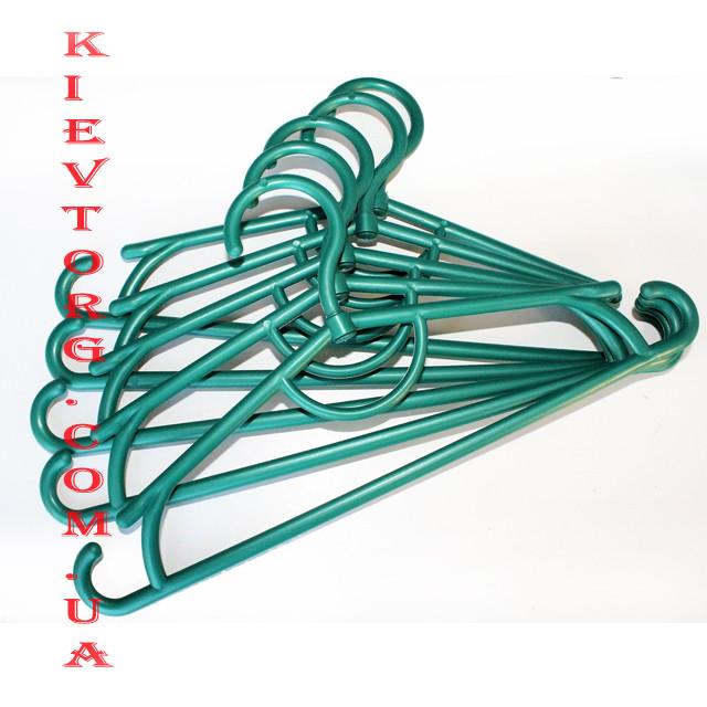 Вешалки плечики тремпеля пластиковые детские зеленый металлик, 31 см