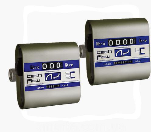 TECH FLOW 3C, Adam Pumps (Италия) - Механический счетчик расхода дизельного топлива