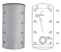 Буферная емкость для отопления Meibes PSX-F 500(серебряный)