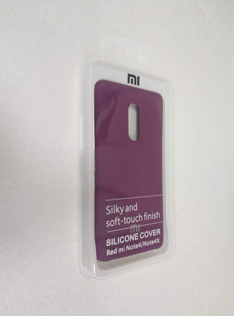 Чехол Silicone Cover для Xiaomi Redmi Note 4 Note 4x фиолетовый