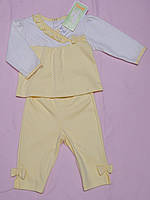 Комплект для девочки желтый интерлок размер 62 ТМ Бемби