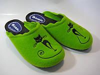 Домашние женские тапочки зеленого цвета ТМ Inblu