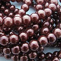Жемчуг керамический 6 мм темный шоколад (130-150 шт)